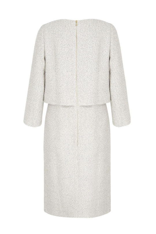 Northcote_Dress_Winter_White_Tweed_BACK