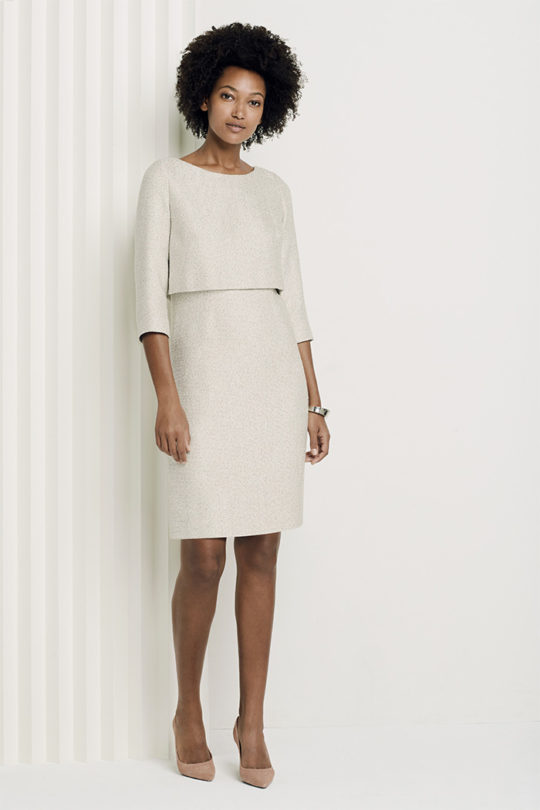 Northcote Dress Winter White Tweed - The Fold  049559f61