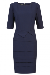 Astor Dress Navy - Front