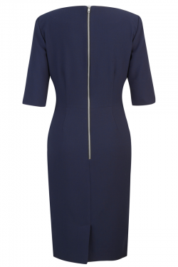Astor Dress Navy - Back