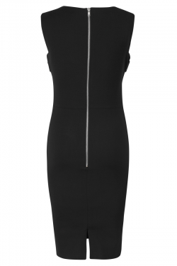 Bond Street Dress Black Leather - Back