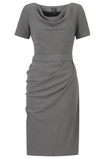 Jermyn Dress Grey - Front