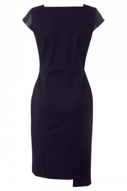 Brompton Dress Navy Leather - Back