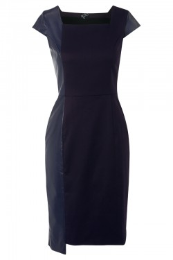 Brompton Dress Navy Leather - Front