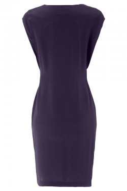 Swanston Dress Navy - Back