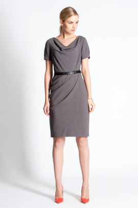 Jermyn Dress City Grey - Model