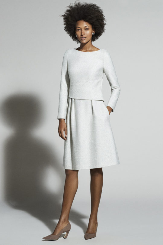 CAMELOT DRESS WINTER WHITE TWEED D0130008_11102_v2