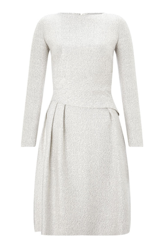 Camelot dress winter white tweed