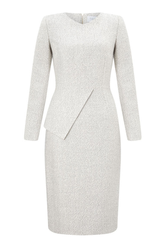 Eaton smart dress winter white tweed