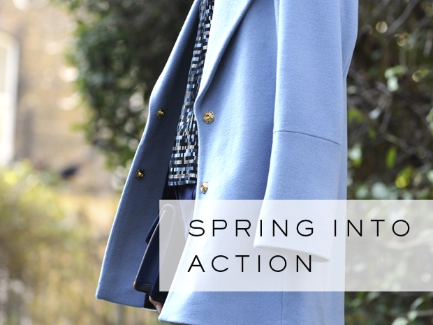 Spring into Action: Dusk Blue Coats