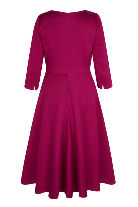 6447_BELLEVUE DRESS MAGENTA_BACK