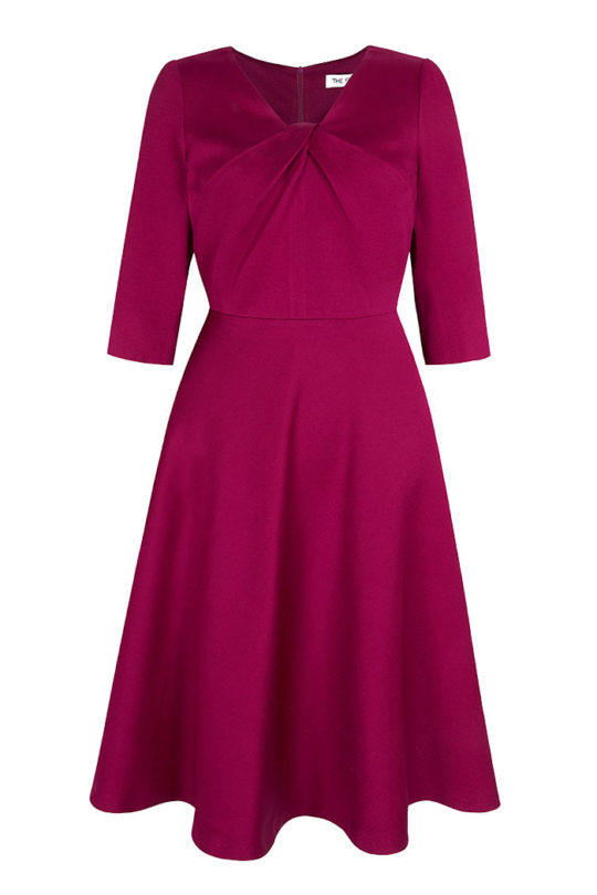 6447_BELLEVUE DRESS MAGENTA_FRONT