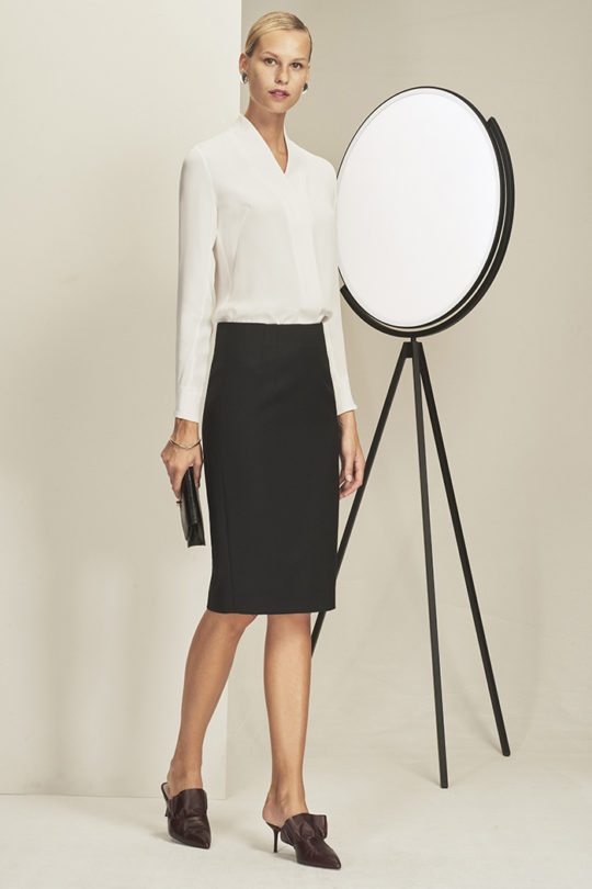 BOWERY_BLOUSE_WHIT E_EC1_PENCIL_SKIRT_BLACK_008