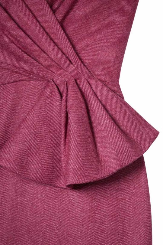 HARDWICK_DRESS_MAGENTA_FRONT_DETAIL