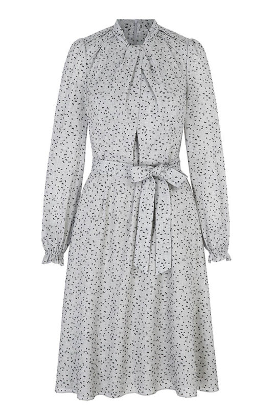 HASLEMERE_DRESS_GREY_DOTTY_FRONT