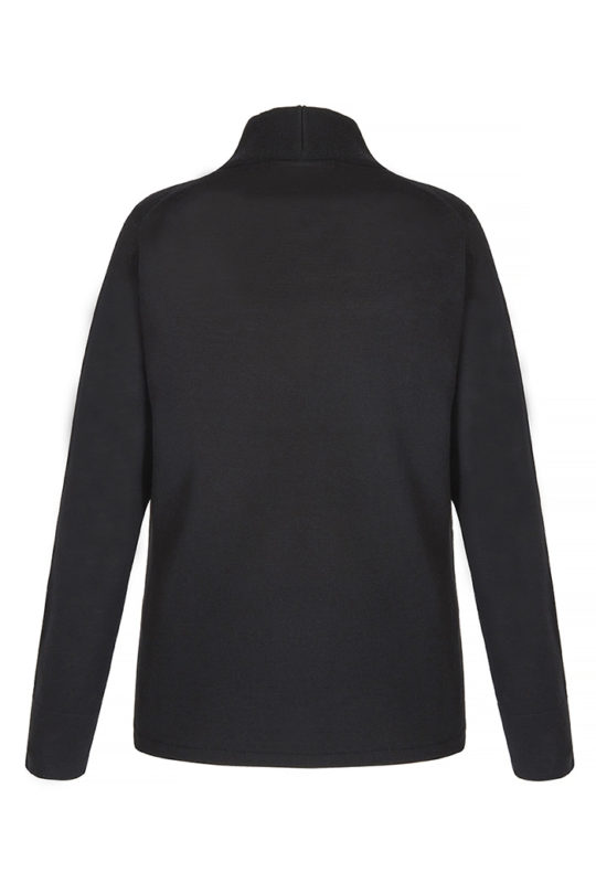 KENWOOD JUMPER BLACK EXTRA-FINE MERINO WOOL_BACK