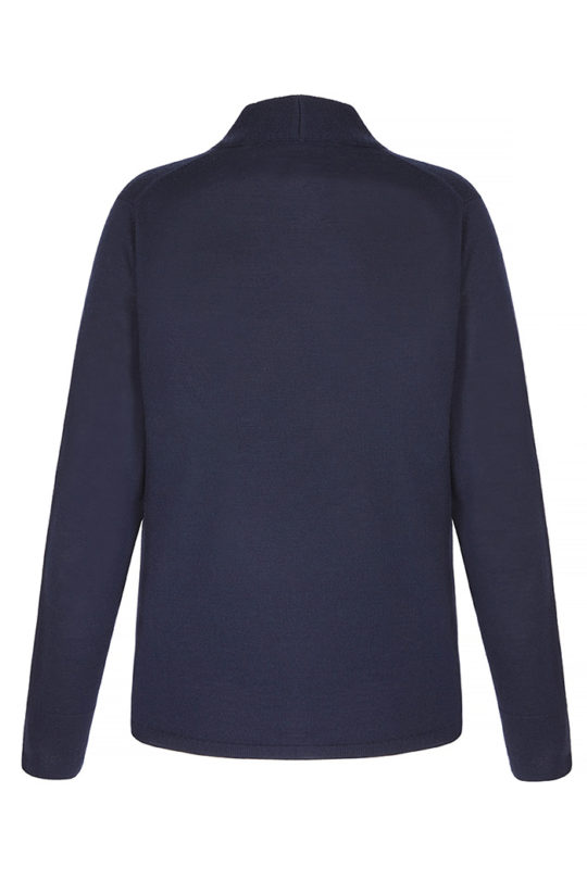 KENWOOD JUMPER NAVY EXTRA-FINE MERINO WOOL_BACK