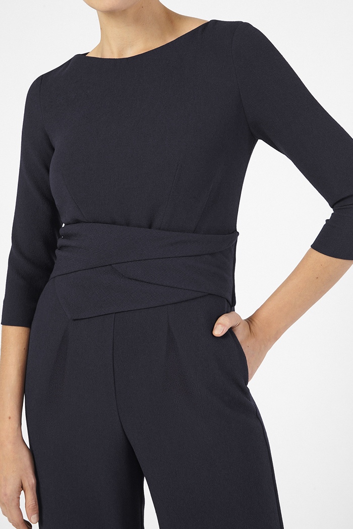 Lugano Jumpsuit Navy Detail