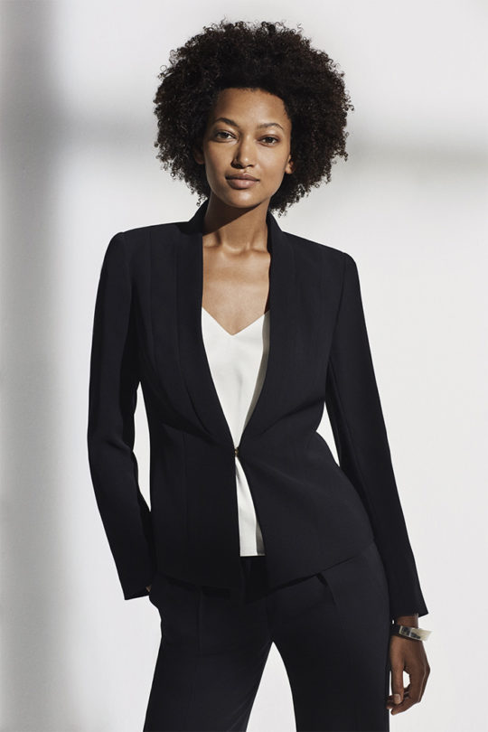 LeMarais_Tuxedo_Jacket_Blk_DD101_Haydon_Top_Ivory_Silk_Satin_DB049_LeMarais_Wide_Leg_Trousers_Blk_DT008_327
