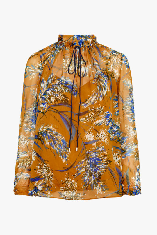 TheFold_Lancaster_Blouse_Yellow_Feather_Print_DB127_1_v4