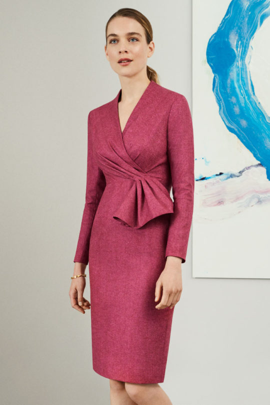hardwick-dress-magenta-wol-herringbone