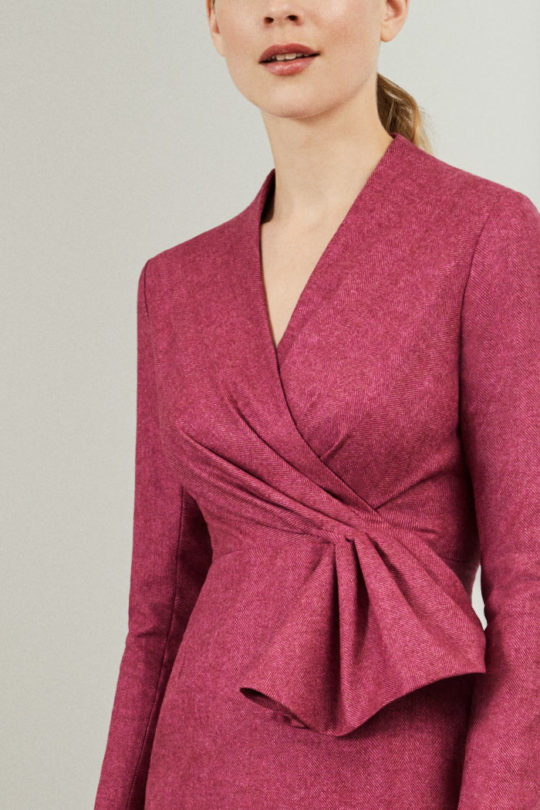 hardwick-dress-magenta-wol-herringbone-closeup-D