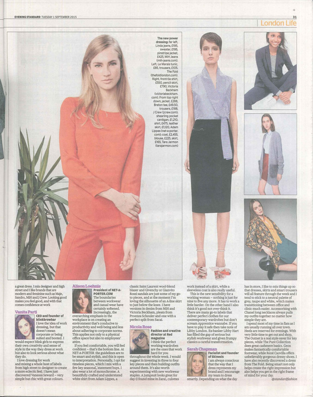 the evening standard coverage