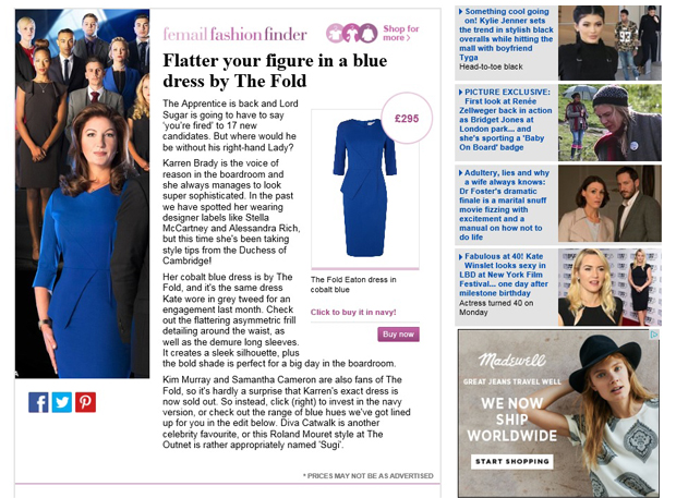 daily mail eaton dress