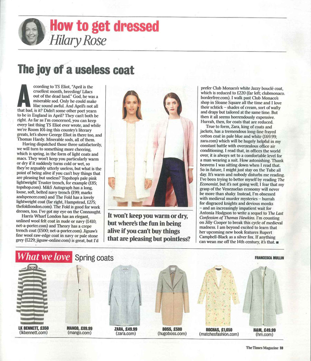 The Times Magazine 9th April The Fold