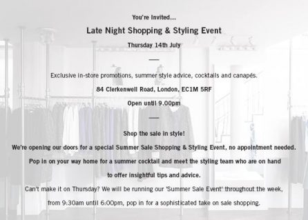 The Fold Late Night Shopping & Styling Event