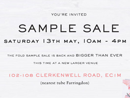 Sample Sale May 2017