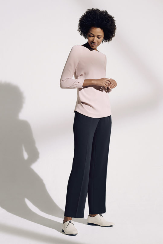 Austin_Top_Blush_Pink_Twill_DB046_LeMarais_Wide_Leg_Trousers_Navy_DT007_1734_v2