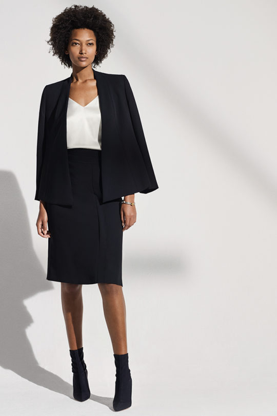 LeMarais_Wrap_Jacket_Blk_DJ006_Haydon_Top_Ivory_Silk_Satin_DB049_LeMarais_Pencil_Skirt_Blk_DS010_1281