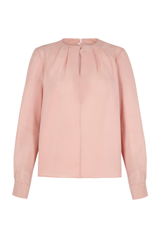 Dartmouth Blouse Powder Pink Silk