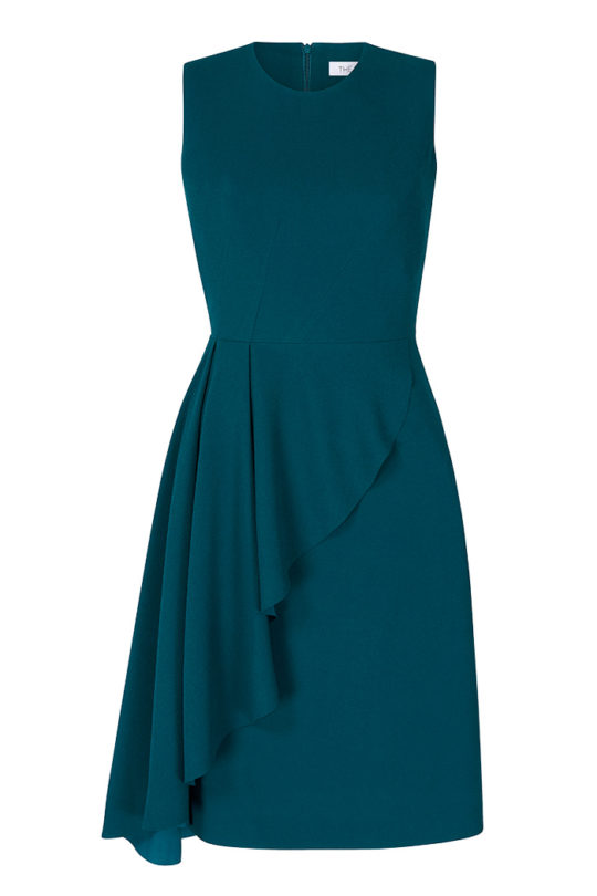 Hensley Dress Atlantic Green Crepe