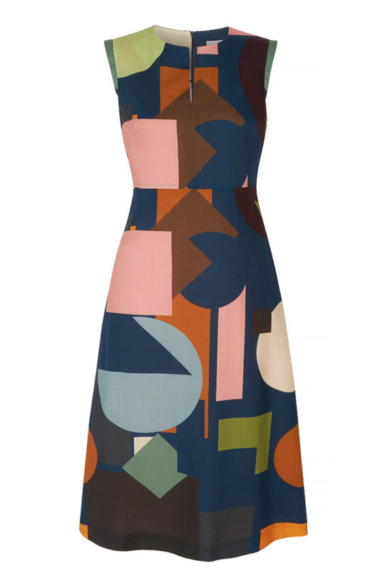 Maybury Dress Multicoloured Light Wool