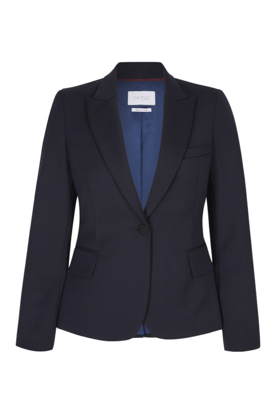 Ec1 Tailored Jacket Navy 2