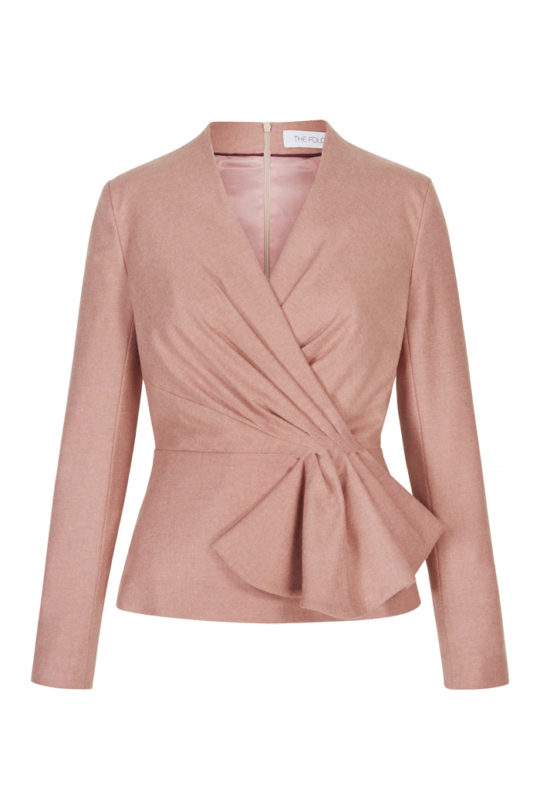 Raleigh Top Blush Pink Tweed