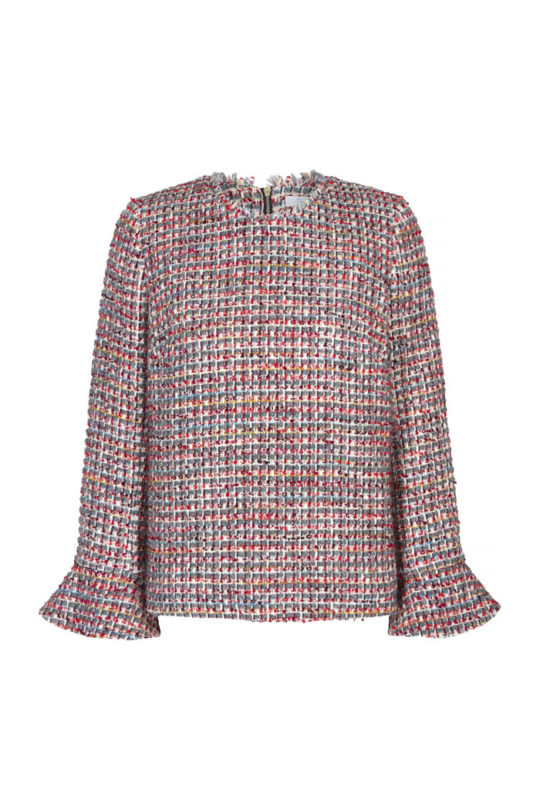 Rosebery Top Multicoloured Wool Tweed