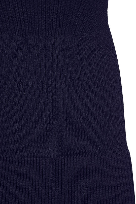 Eversdon Swing Dress Navy Rib Knit 4