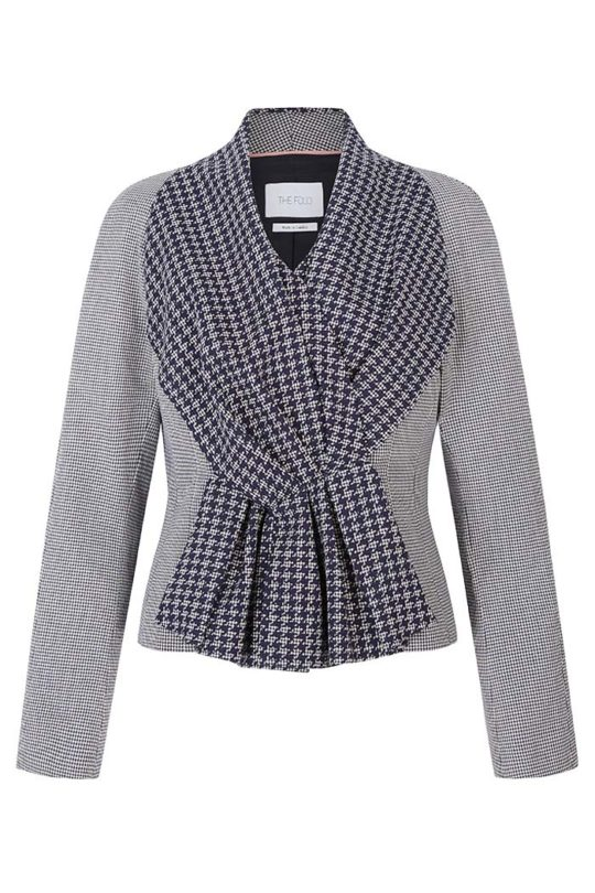 Burlington Jacket Navy And Ivory Houndstooth