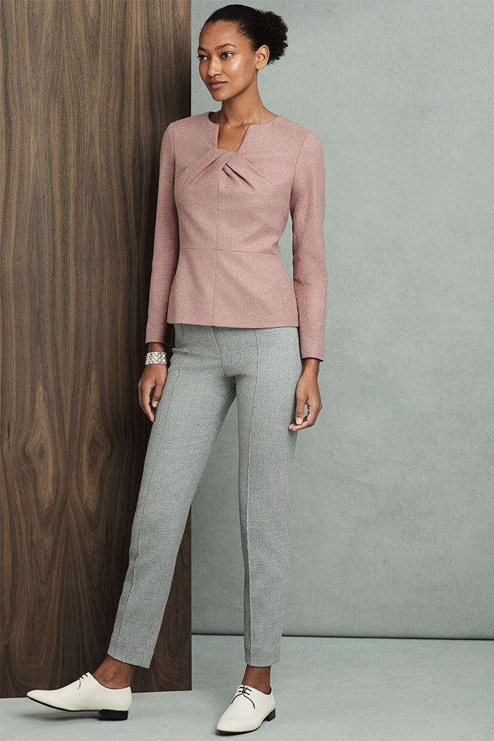 Belmore Top Blush Pink Tweed