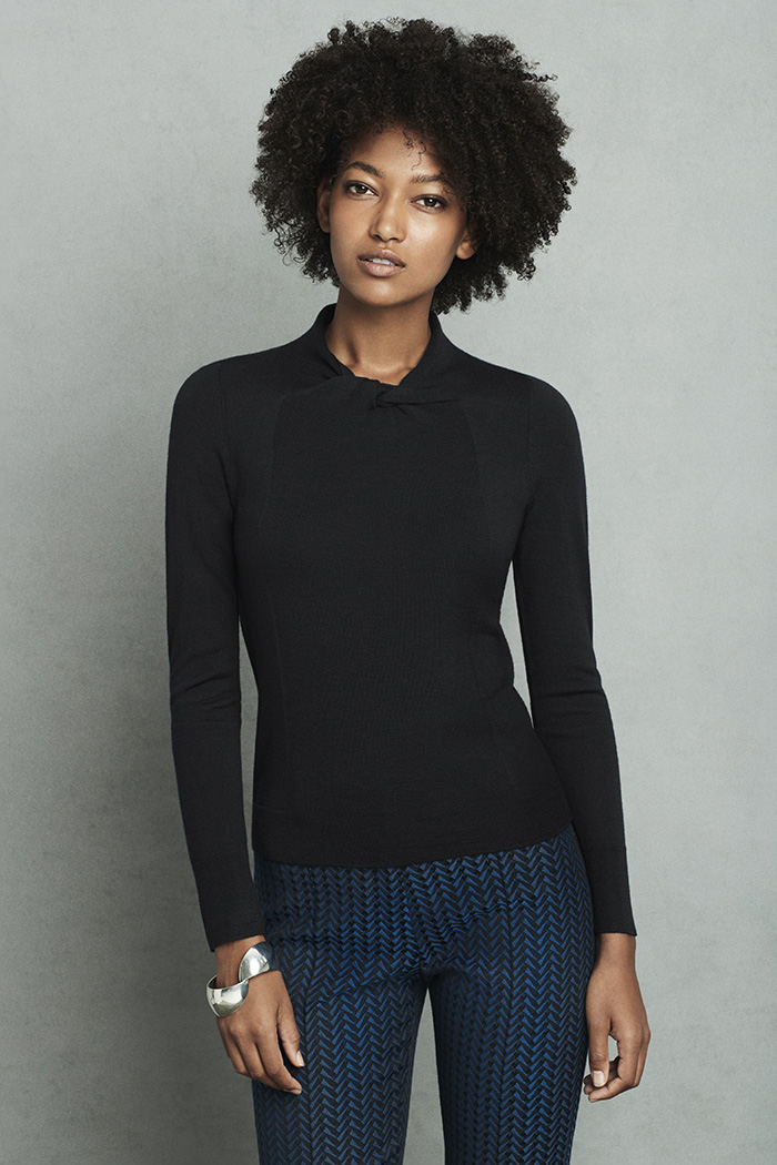 Kenwood Jumper Black Extra-Fine Merino Wool