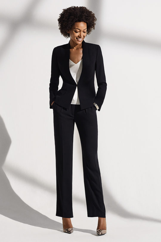 LeMarais_Tuxedo_Jacket_Blk_DD101_Haydon_Top_Ivory_Silk_Satin_DB049_LeMarais_Wide_Leg_Trousers_Blk_DT008_292