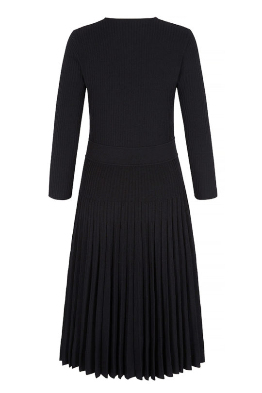 Bouverie Dress Black Rib Knit 3