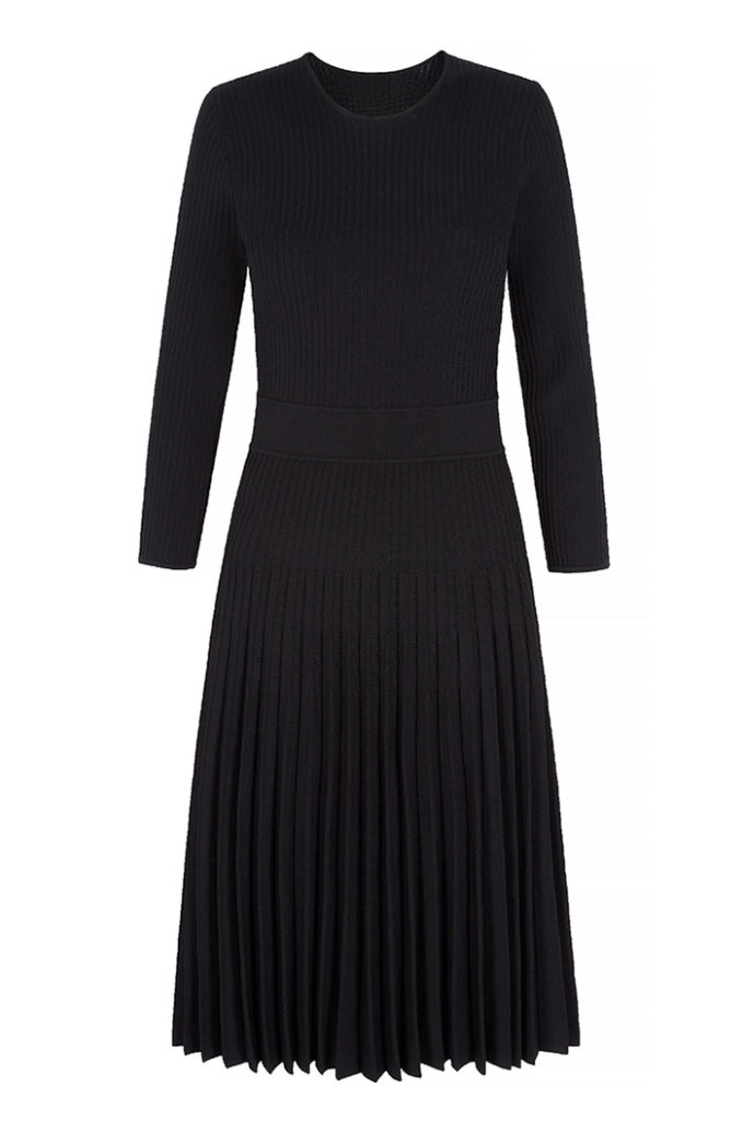 Bouverie Dress Black Rib Knit 2