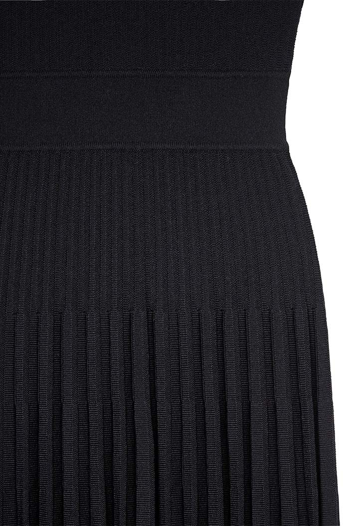 Bouverie Dress Black Rib Knit