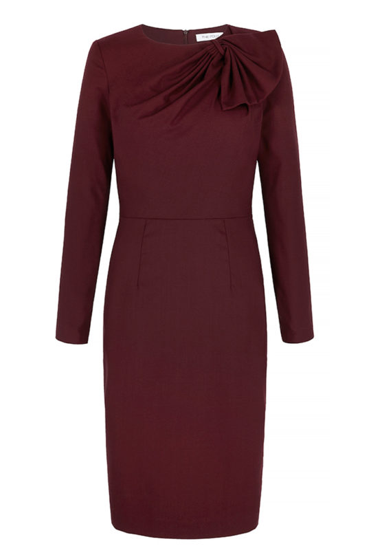 Cliveden Dress Plum Crepe