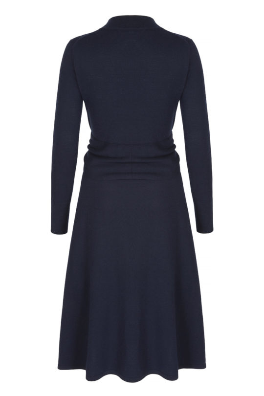 Allerton Dress Navy Merino Wool 3