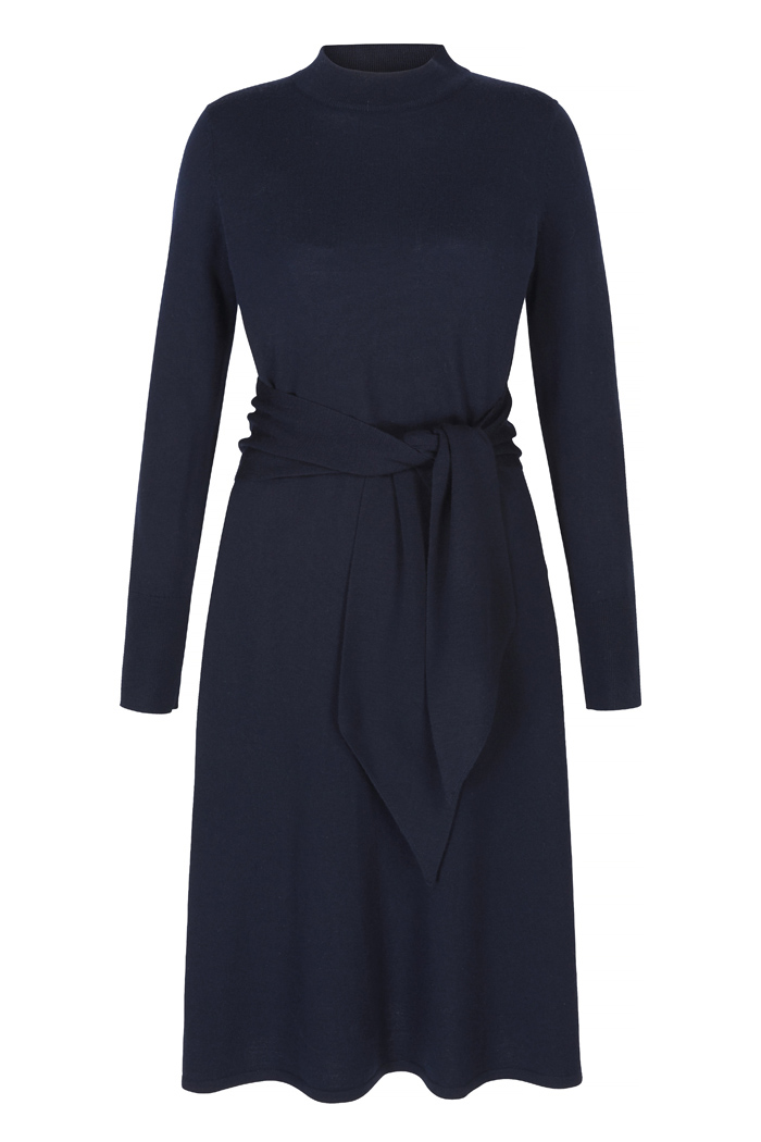 Allerton Dress Navy Merino Wool